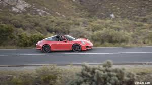 orange porsche 911 2018 porsche 911 targa 4 gts color lava orange side hd
