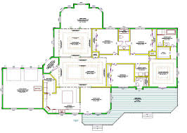 Floor Plans With Porches by 50 One Story Home Plans With Porches House Farmhouse Porch Plans