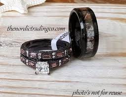 camo wedding band sets camouflage wedding ring set men s band 7 14 engagement ring