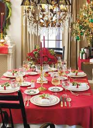 Christmas Tree Table Decoration Ideas by Furniture Accessories Amazing Table Decorations With Red Cotton
