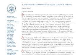 donald trump u0027s arts council sends resignation letter with hidden