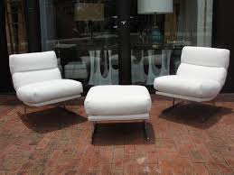 White Leather Wingback Chair Furniture Oversized Leather Chair And Ottoman Leather Chair And