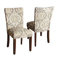 Parsons Upholstered Dining Chairs Amazon Com Modern Neutral Color Pallette Parson Upholstered