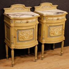 marble top bedside table italian bedside tables with marble tops 1930s for sale at pamono
