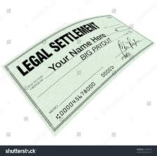 lawsuit settlement check words your name stock illustration