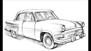 volkswagen old van drawing how to draw a old car youtube