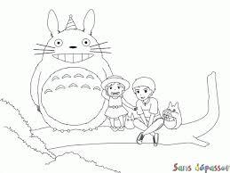 Coloriage Totoro et ses amis  Sans Dépasser