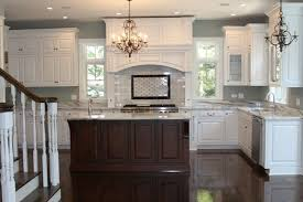 brown kitchen cabinets to white white kitchen brown island floors paint home decor