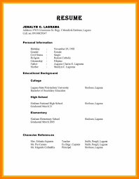 character resume template 28 images sle of character reference