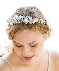 hair accessories online silver bridal headband hair accessories nyc handmade