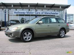 green opal car 2007 subaru outback 3 0r l l bean edition wagon in willow green