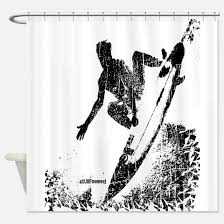 Surfer Shower Curtain Surfing Shower Curtains Cafepress