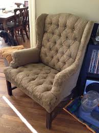 How To Reupholster A Wingback Armchair Wingback Chair Reupholstered Traditional Armchairs And Accent