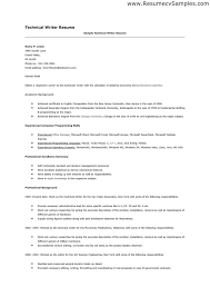 Writing Resume Examples by Resume Examples Technical Skills