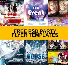 party flyer templates psd free download free flyer templates