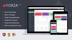 forza full featured admin app with angularjs website templates
