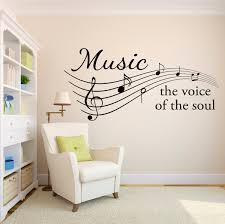 music wall decal the voice of the soul music notes decal details music