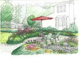 sketch of the week kirkland garden design