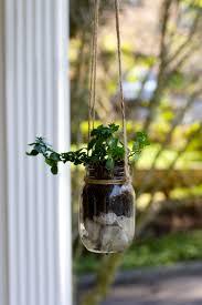 window herb gardens diy mason jar hanging herb planter u2013 ramshackle glam