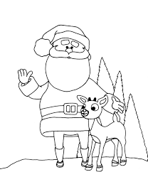 santa reindeer coloring pages coloring pages