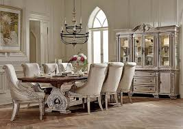 dining room the brilliant antique white set table regarding chairs