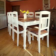 Distressed Dining Sets Distressed Dining Table Artefama Linda Distressed 63inch Dining