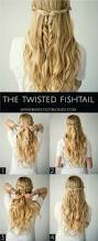 the twisted fishtail hairstyle step by step hair tutorial