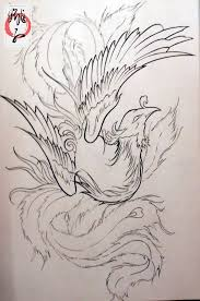 29 best chinese phoenix tattoo designs line images on pinterest