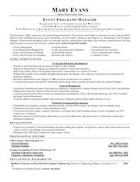 Program Manager Resumes Event Manager Resume The Best Resume