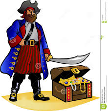 pirate with his treasure chest royalty free stock image image