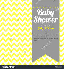 unisex baby shower unisex baby shower invitation yellow white stock vector 151655102
