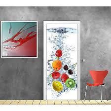 stickers porte cuisine sticker pour porte déco cuisine fruits réf 727 achat vente