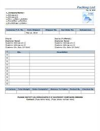 doc 700944 packing list sample u2013 packing list template free