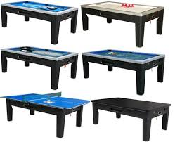 large multi game table berner 6 in 1 table black pool air pong poker roulette game