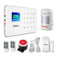 kerui g18 1 7 tft touch gsm alarm wireless home burglar security protection alarm system ios android app control