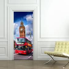 online get cheap big landscape posters aliexpress com alibaba group free shipping 3d uk big ben with red bus door wall stickers bedroom home decor poster
