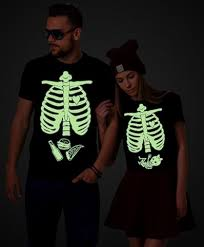glow in the dark halloween maternity shirts couples shirts