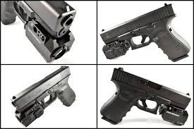 glock 19 laser light combo at3 green laser light combo with led strobe flashlight at3 tactical