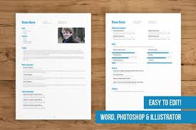 pages resume template 2 page cv template easy to edit resume templates creative market