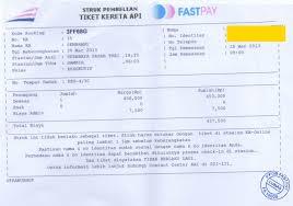 Tiket Kereta Api Contoh Struk Pembelian Tiket Kereta Api Loket Resmi Pembayaran