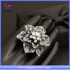 big flower rings images Big flower ring design crystal bronze color models ring for women jpg