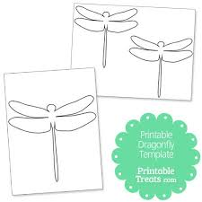 printable dragonfly stencils printable dragonfly template from printabletreats com shapes and