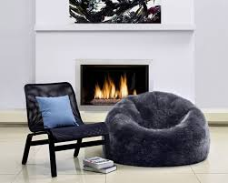 Dorm Room Bean Bag Chairs - these sheepskin bean bags level up sophistication for the dorm