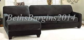 Sure Fit Sectional Slipcover Sure Fit Stretch Pique Two Seat With Left Side Chaise Sectional