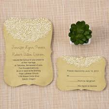 printed wedding invitations lace printed rustic chic bracket shaped wedding invitations