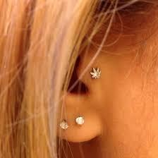 ear piercing earrings jewels tragus piercing diamonds silver diamonds