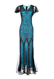 evelyn blue beaded flapper dress 20s great gatsby dress downton