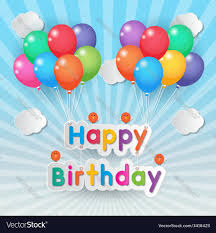 happy birthday balloons royalty free vector image