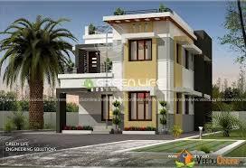 1600 square feet double floor 3 bhk modern home design