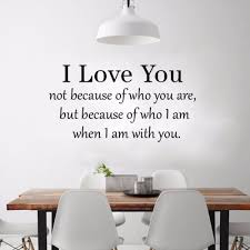 wall decals for dining room dsu i love with you english quote simple art wall sticker black